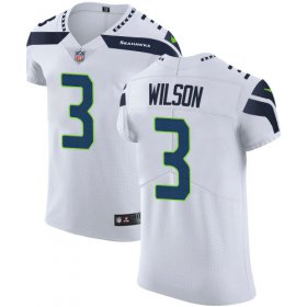 Wholesale Cheap Nike Seahawks #3 Russell Wilson White Men\'s Stitched NFL Vapor Untouchable Elite Jersey