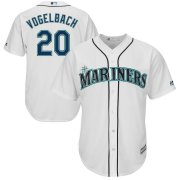 Wholesale Cheap Seattle Mariners #20 Dan Vogelbach Majestic Home Cool Base Player Jersey White