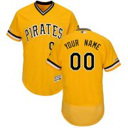 Wholesale Cheap Pittsburgh Pirates Majestic Alternate Flex Base Authentic Collection Custom Jersey Gold