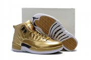 Wholesale Cheap Air Jordan 12 Metal Gold Gold Black White