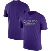 Wholesale Cheap Colorado Rockies Nike Legend Primary Logo Performance T-Shirt Purple