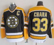 Wholesale Cheap Bruins #33 Zdeno Chara Black CCM Throwback New Stitched NHL Jersey