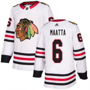 Wholesale Cheap Adidas Blackhawks #6 Olli Maatta White Road Authentic Stitched Youth NHL Jersey