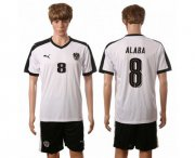 Wholesale Cheap Austria #8 Alaba White Away Soccer Country Jersey