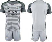 Wholesale Cheap Leicester City Blank Grey Goalkeeper Soccer Club Jersey