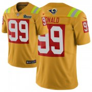 Wholesale Cheap Nike Rams #99 Aaron Donald Gold Men's Stitched NFL Limited City Edition Jersey
