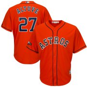 Wholesale Cheap Houston Astros #27 Jose Altuve Majestic 2019 Postseason Official Cool Base Player Jersey Orange