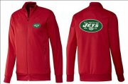 Wholesale Cheap NFL New York Jets Team Logo Jacket Red