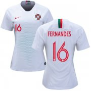 Wholesale Cheap Women's Portugal #16 Fernandes Away Soccer Country Jersey