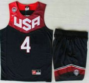 Wholesale Cheap 2014 USA Dream Team #4 Stephen Curry Blue Basketball Jersey Suits