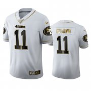 Wholesale Cheap San Francisco 49ers #11 Marquise Goodwin Men's Nike White Golden Edition Vapor Limited NFL 100 Jersey