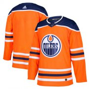 Wholesale Cheap Adidas Oilers Blank Orange Home Authentic Stitched Youth NHL Jersey