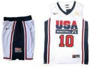 Wholesale Cheap USA Basketball Retro 1992 Olympic Dream Team 10 Kobe Bryant White Basketball Suit