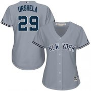Wholesale Cheap Yankees #29 Gio Urshela Grey Road Women's Stitched MLB Jersey