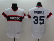 Wholesale White Sox #35 Frank Thomas White Flexbase Authentic Collection Alternate Home Stitched Baseball Jersey