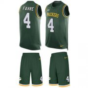 Wholesale Cheap Nike Packers #4 Brett Favre Green Team Color Men's Stitched NFL Limited Tank Top Suit Jersey