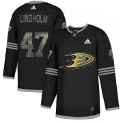 Wholesale Cheap Adidas Ducks #47 Hampus Lindholm Black Authentic Classic Stitched NHL Jersey