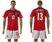Wholesale Cheap Austria #13 Suttner Red Home Soccer Country Jersey