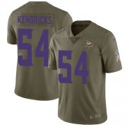 Wholesale Cheap Nike Vikings #54 Eric Kendricks Olive Youth Stitched NFL Limited 2017 Salute to Service Jersey