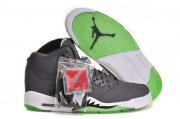 Wholesale Cheap Air Jordan 5 (V) Retro Shoes cool gray/white-green