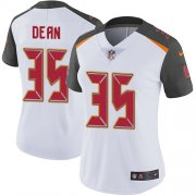 Wholesale Cheap Nike Buccaneers #35 Jamel Dean White Women's Stitched NFL Vapor Untouchable Limited Jersey