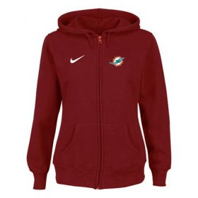 Wholesale Cheap Nike Miami Dolphins Ladies Tailgater Full Zip Hoodie Red