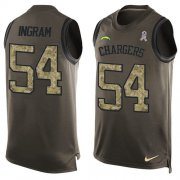 Wholesale Cheap Nike Chargers #54 Melvin Ingram Green Men's Stitched NFL Limited Salute To Service Tank Top Jersey