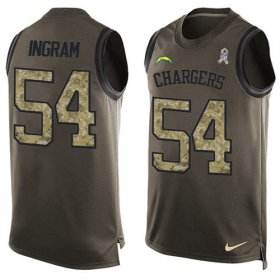Wholesale Cheap Nike Chargers #54 Melvin Ingram Green Men\'s Stitched NFL Limited Salute To Service Tank Top Jersey