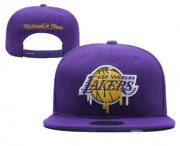 Wholesale Cheap Men's Los Angeles Lakers Snapback Ajustable Cap Hat 4