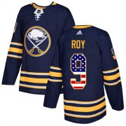 Wholesale Cheap Adidas Sabres #9 Derek Roy Navy Blue Home Authentic USA Flag Stitched NHL Jersey