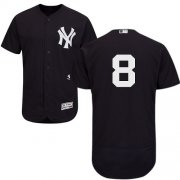Wholesale Cheap Yankees #8 Yogi Berra Navy Blue Flexbase Authentic Collection Stitched MLB Jersey