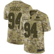 Wholesale Cheap Nike Chiefs #94 Terrell Suggs Camo Youth Stitched NFL Limited 2018 Salute To Service Jersey