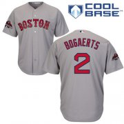 Wholesale Cheap Red Sox #2 Xander Bogaerts Grey New Cool Base 2018 World Series Champions Stitched MLB Jersey