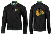 Wholesale Cheap NHL Chicago Blackhawks Zip Jackets Black-3