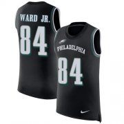 Wholesale Cheap Nike Eagles #84 Greg Ward Jr. Black Alternate Men's Stitched NFL Limited Rush Tank Top Jersey