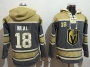 Wholesale Cheap Golden Knights #18 James Neal Grey Sawyer Hooded NHL Sweatshirt
