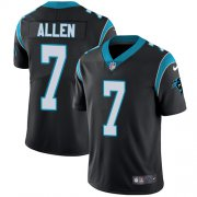 Wholesale Cheap Nike Panthers #7 Kyle Allen Black Team Color Men's Stitched NFL Vapor Untouchable Limited Jersey