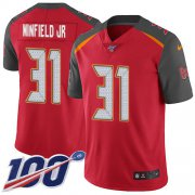 Wholesale Cheap Nike Buccaneers #31 Antoine Winfield Jr. Red Team Color Men's Stitched NFL 100th Season Vapor Untouchable Limited Jersey
