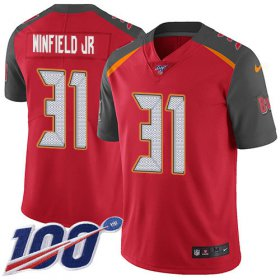 Wholesale Cheap Nike Buccaneers #31 Antoine Winfield Jr. Red Team Color Men\'s Stitched NFL 100th Season Vapor Untouchable Limited Jersey