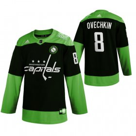 Wholesale Cheap Washington Capitals #8 Alexander Ovechkin Men\'s Adidas Green Hockey Fight nCoV Limited NHL Jersey