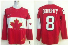 Wholesale Cheap Olympic 2014 CA. #8 Drew Doughty Red Stitched NHL Jersey