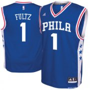 Wholesale Cheap Men's Philadelphia 76ers #1 Markelle Fultz adidas Royal 2017 NBA Draft Pick Replica Jersey