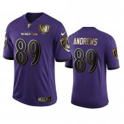 Wholesale Cheap Baltimore Ravens #89 Mark Andrews Men's Nike Purple Team 25th Season Golden Limited NFL Jersey