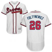 Wholesale Cheap Braves #26 Mike Foltynewicz White Flexbase Authentic Collection Stitched MLB Jersey
