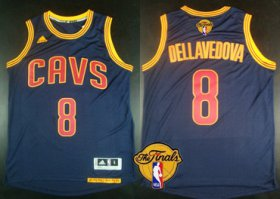 Wholesale Cheap Men\'s Cleveland Cavaliers #8 Matthew Dellavedova 2017 The NBA Finals Patch Navy Blue Jersey