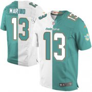 Wholesale Cheap Nike Dolphins #13 Dan Marino Aqua Green/White Men's Stitched NFL Elite Split Jersey