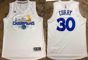 Wholesale Cheap Men's Golden State Warriors #30 Stephen Curry White 2017 The Finals Championship Stitched NBA adidas Swingman Jersey