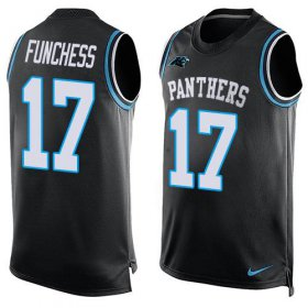 Wholesale Cheap Nike Panthers #17 Devin Funchess Black Team Color Men\'s Stitched NFL Limited Tank Top Jersey