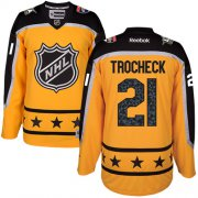 Wholesale Cheap Panthers #21 Vincent Trocheck Yellow 2017 All-Star Atlantic Division Stitched Youth NHL Jersey
