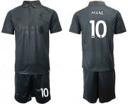 Wholesale Cheap Liverpool #10 Mane Black Soccer Club Jersey